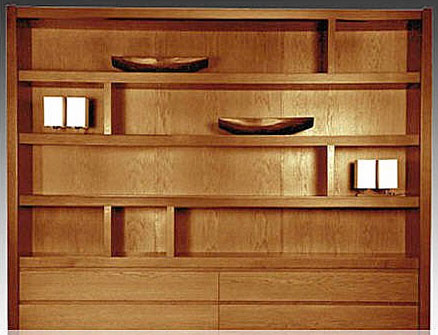 Bibliotecas De Madera Con Puertas Muebles Rinconeros Para Living - Bibliotecas-de-madera