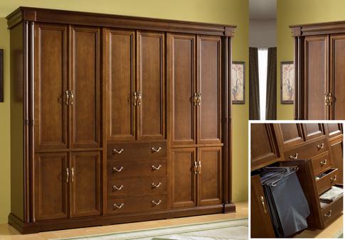 Roperos y placares carpinteria restauracion for Roperos de melamina para dormitorios